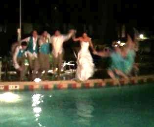 Florida Wedding Pool Jump