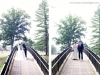 Bride & Groom on Bridge at Chartiers Country Club Wedding