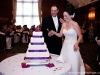 Bride Groom and Cake Chartiers Country Club