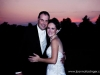 Chartiers Country Club Sunset Bride Groom