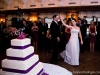 Wedding cake and dancing Chartiers Country Club