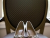 Bride\'s shoes at a Carnegie Music Hall Pittsburgh wedding reception.