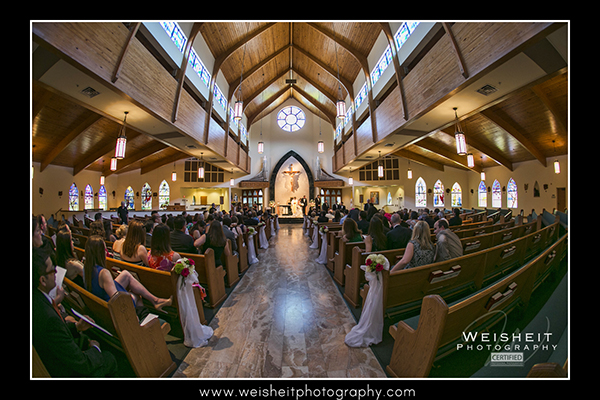 St. Patrick Church Palm Beach Gardens PGA Resort wedding aisle