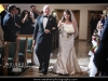 Bride escorted down the aisle at St. Patrick church wedding in Palm Beach Gardens.