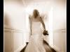 Bride walking to the aisle at St. Patrick church.