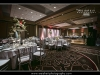 The reception hall set for the wedding party at the PGA Resort in Palm Beach Gardens.