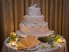 Cake with seashells at Riverside Hotel wedding in Ft. Lauderdale