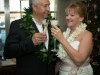 Couple toasts at Riverside Hotel wedding in Ft. Lauderdale