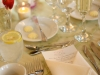 Wedding table setting at The University Club