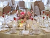 The University Club Wedding centerpiece and table