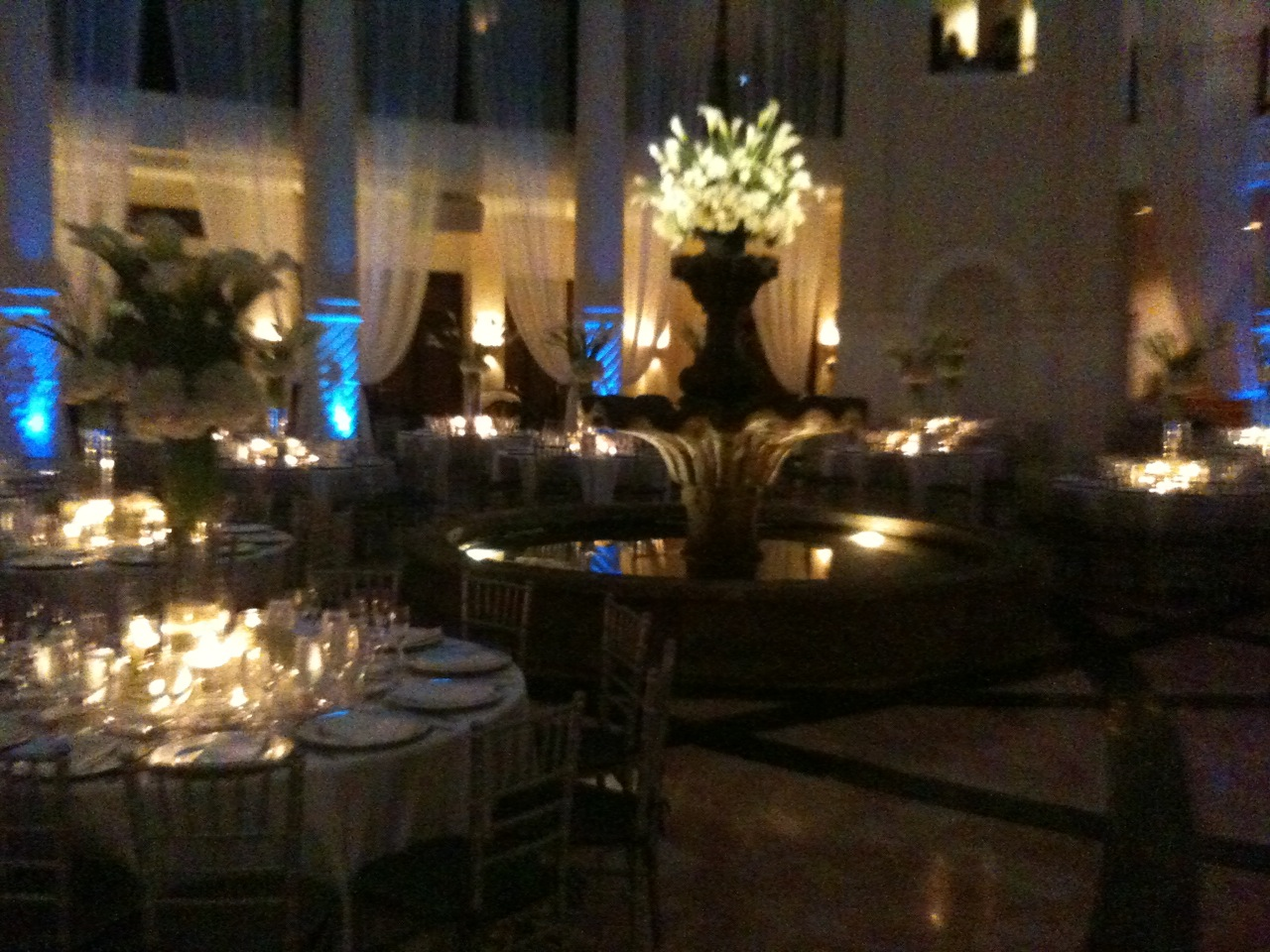 The Colonnade Dressed Up In Regal Wedding Decor Was SO Beautiful That John Couldnt Resist Snapping A Few Of His Own Photos With Phone