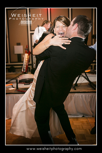 Newlyweds Dancing and Laughing on Dance Floor at their PGA Resort, Palm Beach Gardens Wedding