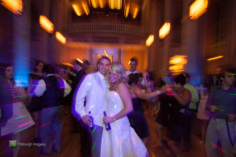 Bride and Groom at their wedding in the Grand Hall at the Priory Pittsburgh.
