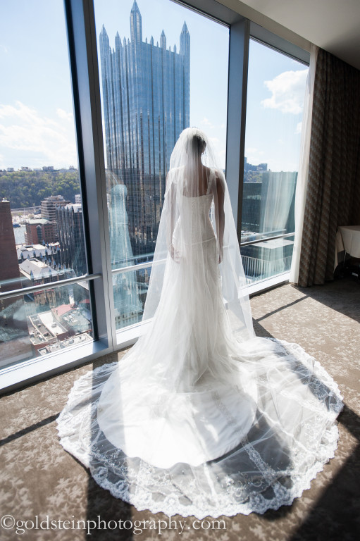 Fairmont Hotel Wedding: Long Bridal Train