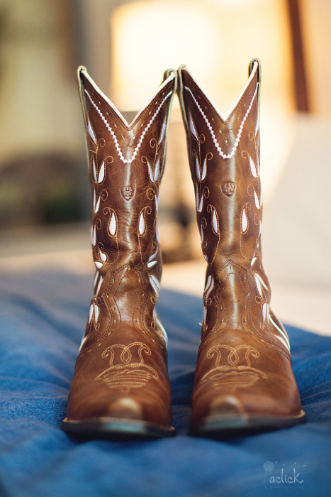 The Links Bloomsburg Wedding Cowboy Boot Shoes for the Bride
