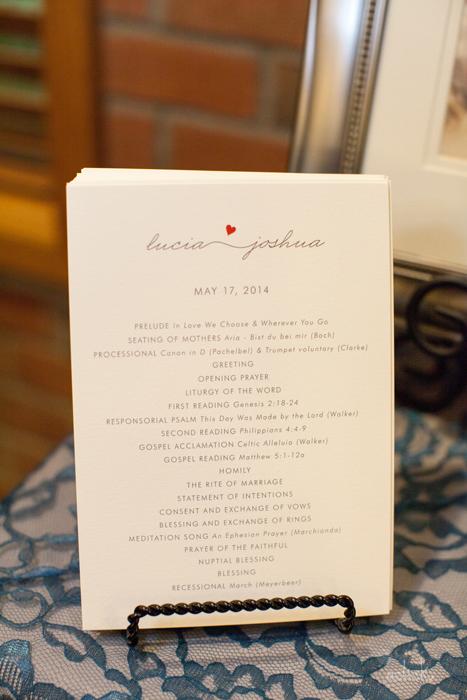 The Links Bloomsburg Wedding Romantic Program Design