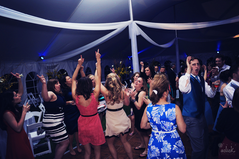 The Links Bloomsburg Wedding Reception Tent Dance Floor with Band