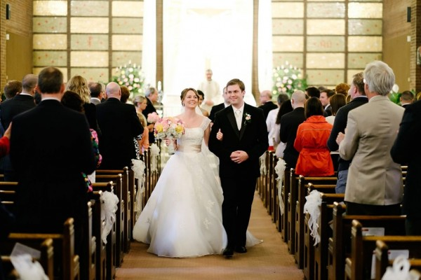 Circuit Center Ballroom Wedding Ceremony - Bride and Groom Exit Church