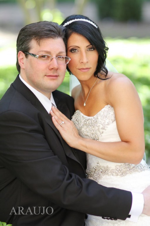 Duquesne Club Wedding: Newlyweds Pose Together