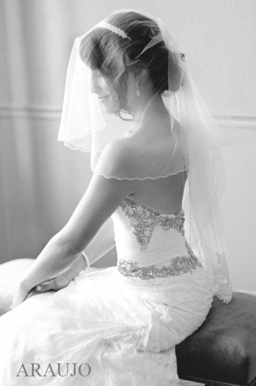 Duquesne Club Wedding: Bride with Tiered Wedding Veil