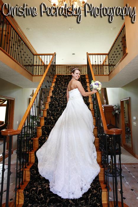 Hopwood Social Hall Wedding - Bride in Wedding Dress with Long Train