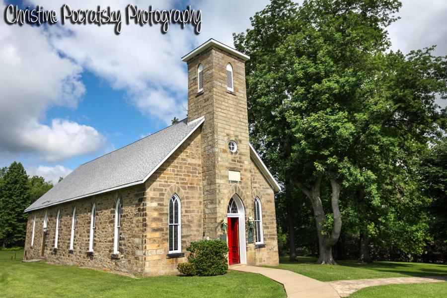 Hopwood Social Hall Wedding Ceremony - Stone Church Exterior