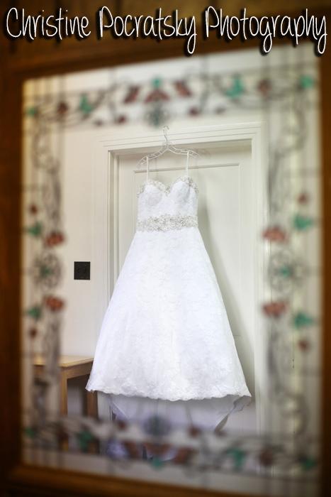 Hopwood Social Hall Wedding - Hanging Wedding Dress