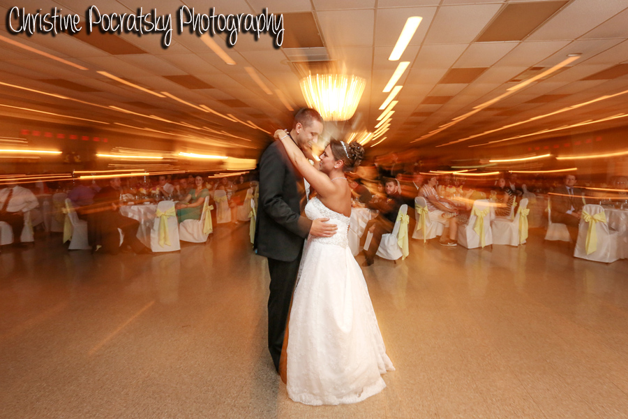 Hopwood Social Hall Wedding Reception - Bride and Groom's First Dance