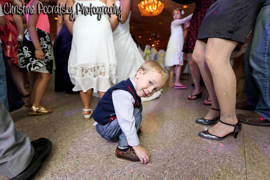 Hopwood Social Hall Wedding Reception - Child Enjoys Party