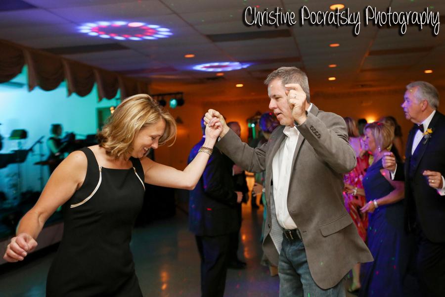 Hopwood Social Hall Wedding Reception - Man and Woman Cut a Rug