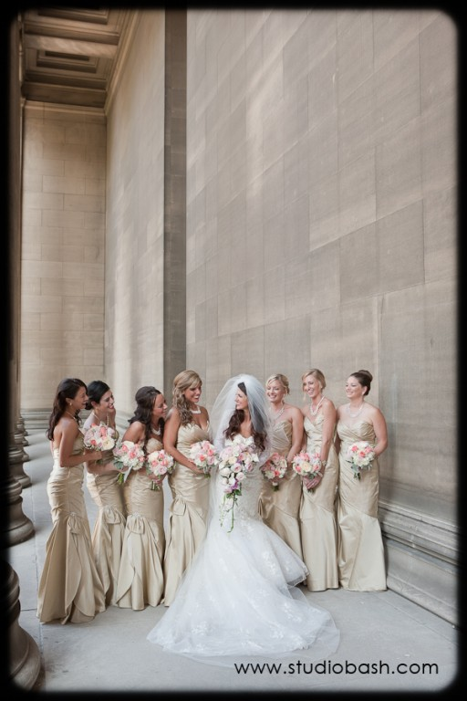 Power Center Ballroom Pittsburgh Wedding - Bride and her Bridesmaids