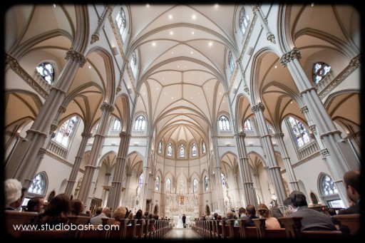 Power Center Ballroom Pittsburgh Wedding Ceremony - High Cathedral Ceilings