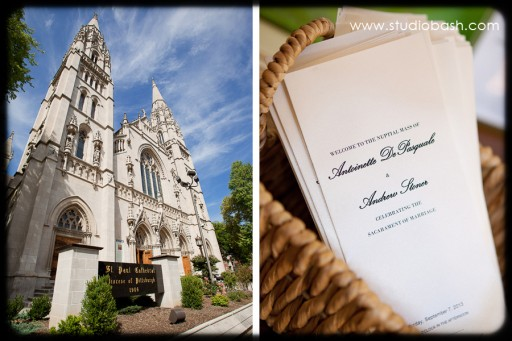 Power Center Ballroom Pittsburgh Wedding Ceremony - St Paul Cathedral and Invitations