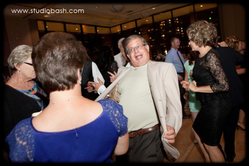 Power Center Ballroom Pittsburgh Wedding Reception - Woman Grabbing Man's Tie