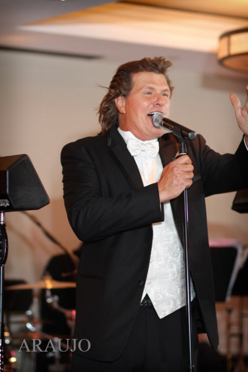 Renaissance Hotel Wedding Reception - John Parker Singing to the Crowd