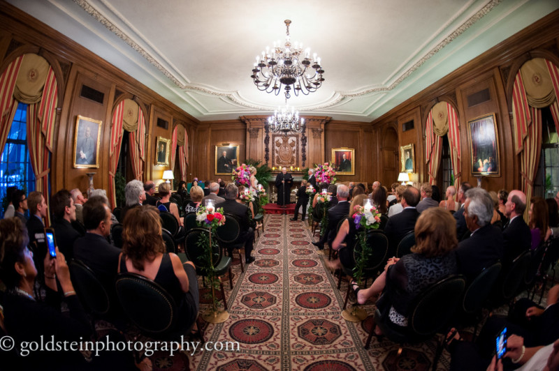 Duquesne Club Wedding Ceremony: Elegant Wedding Aisle