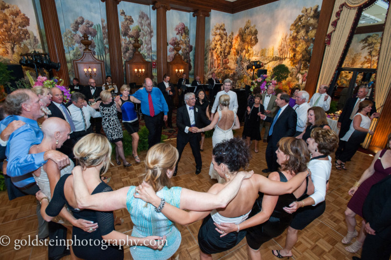 Duquesne Club Wedding Reception: Guests Dancing in a Circle