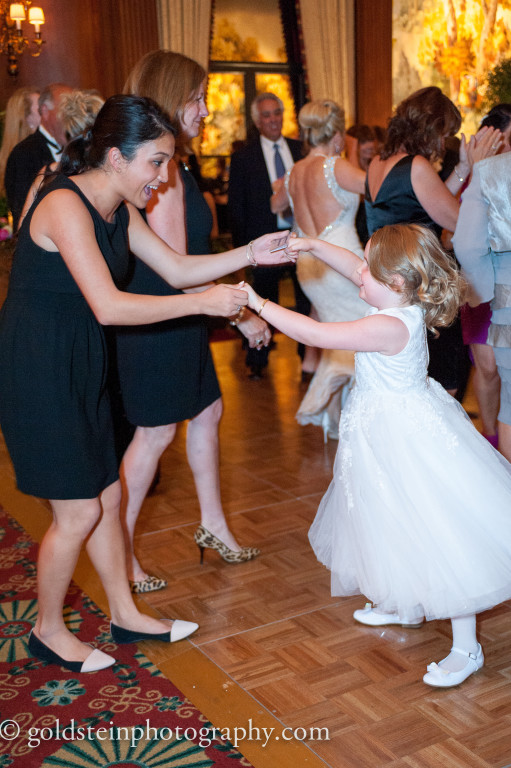 Duquesne Club Wedding Reception: Woman and Flower Girl Dance