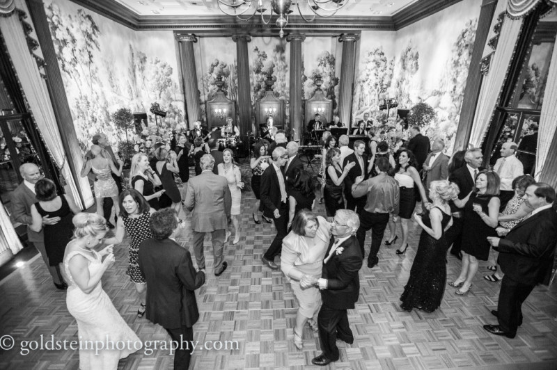 Duquesne Club Wedding Reception: Guests Dance to Wedding Band