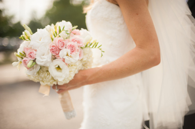 The Club at Nevillewood Wedding: Bride's White and Pink Flowers