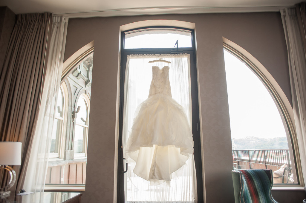 The Club at Nevillewood Wedding: Hanging White A-Line Wedding Dress