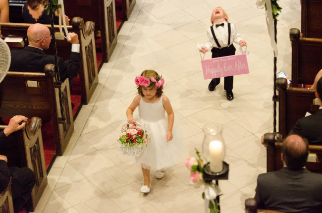 The Club at Nevillewood Wedding Ceremony: Children Walking Down the Aisle