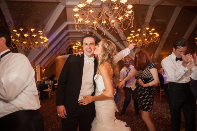 The Club at Nevillewood Wedding: Happy Couple During Reception