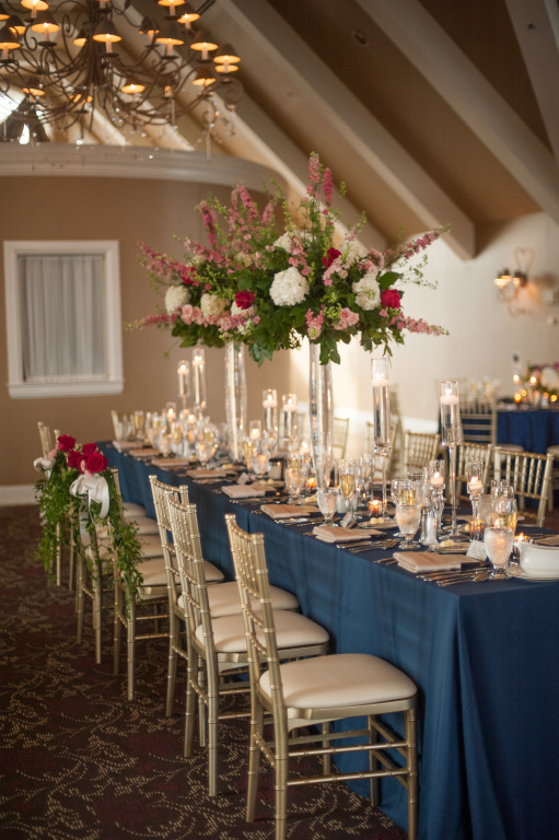 The Club at Nevillewood Wedding Reception: Bride and Grooms Chairs