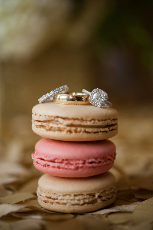 The Club at Nevillewood Wedding: Macaroons with Wedding Rings