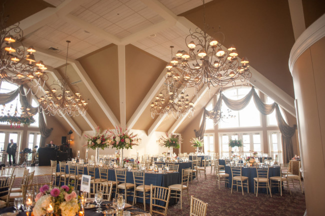 The Club at Nevillewood Wedding Reception: Beautiful Venue with Large Windows