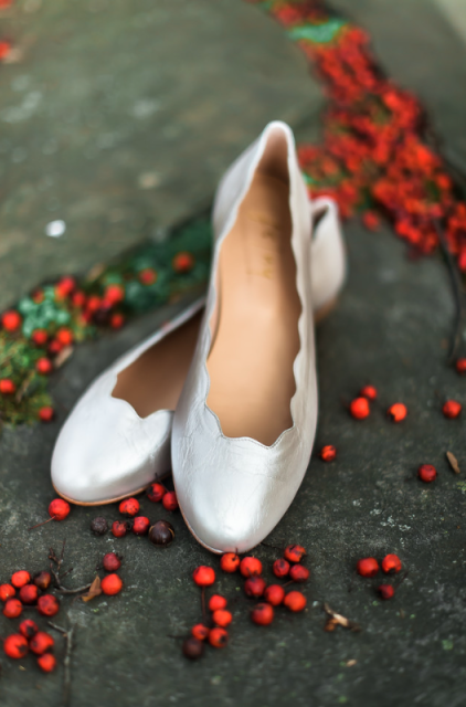 Longue Vue Club Wedding: Winter Bridal Flats