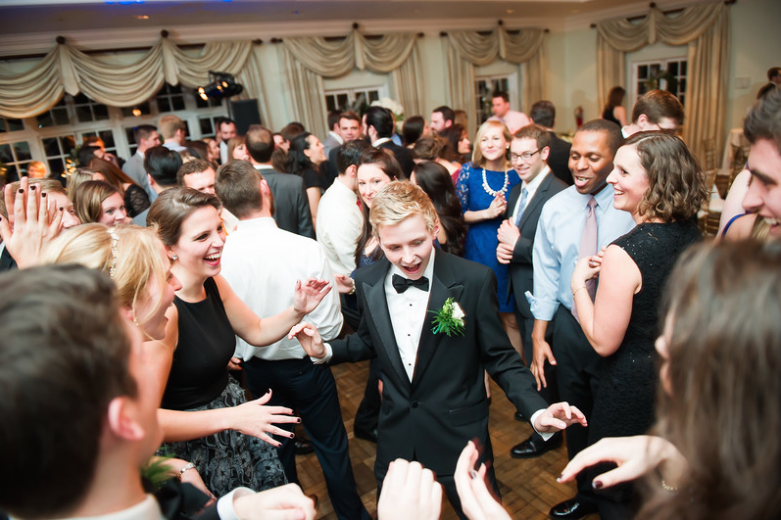 Longue Vue Club Wedding Reception: Crowded Dance Floor