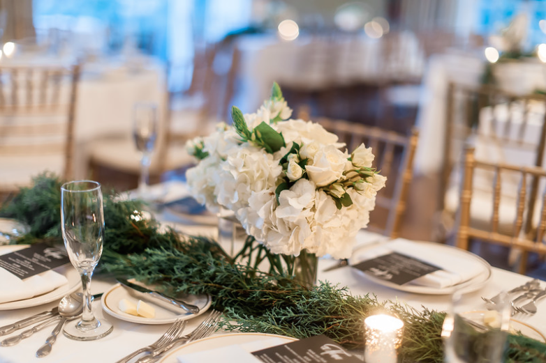 Longue Vue Club Wedding Reception: Winter Decor
