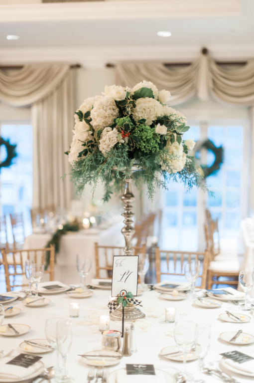 Longue Vue Club Wedding Reception: Organic Table Decor
